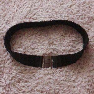 Black belt with silver hardware